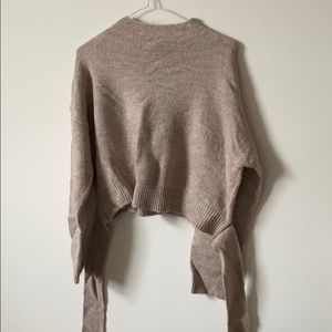 Native Youth Tie Light Sweater